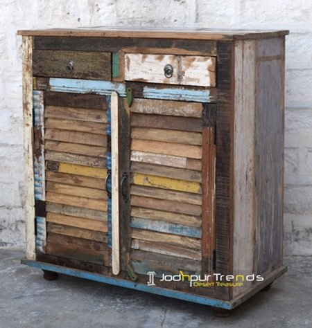 Old Distress Indian Wood Cabinet Design Furniture