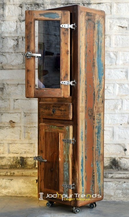 Reclaimed Design Indian Old wood Cabinet