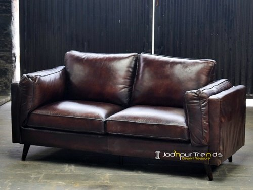 Handcrafted Genuine Manufacture Leather Sofa