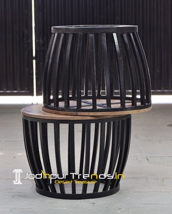 Bent Metal Industrial Commercial Table Design