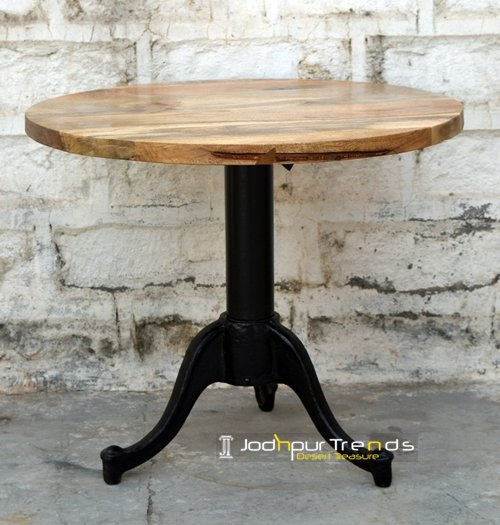 Curved Cast Iron Restaurant Coffee Table Design
