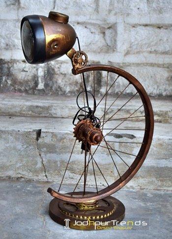 Bike Light Inspire Retro Table Lamp Design
