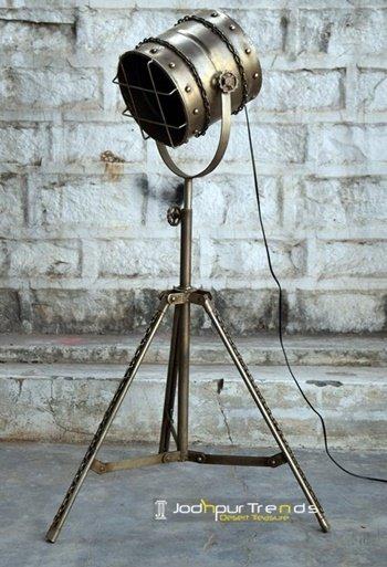 Nickel Finish Industrial Iron Floor Lamp Furniture