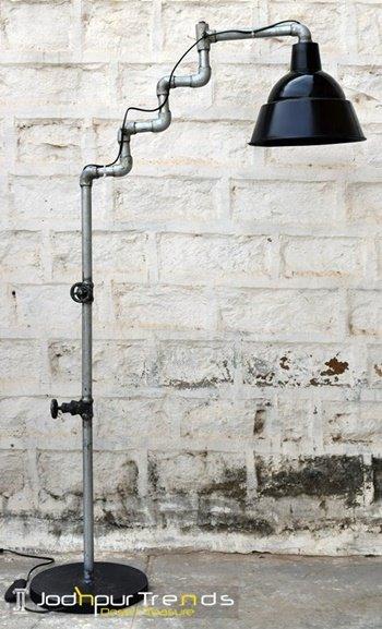 Sanitary Pipe Fitting Industrial Floor Lamp Furniture