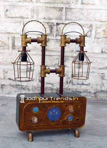 Metal Industrial Table Lamp for Hospitality