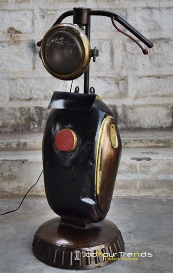 Old Auto Part Recycled Table Lamp Furniture