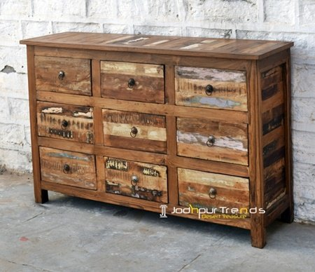 Old Wood Drawer Resort Furniture Design