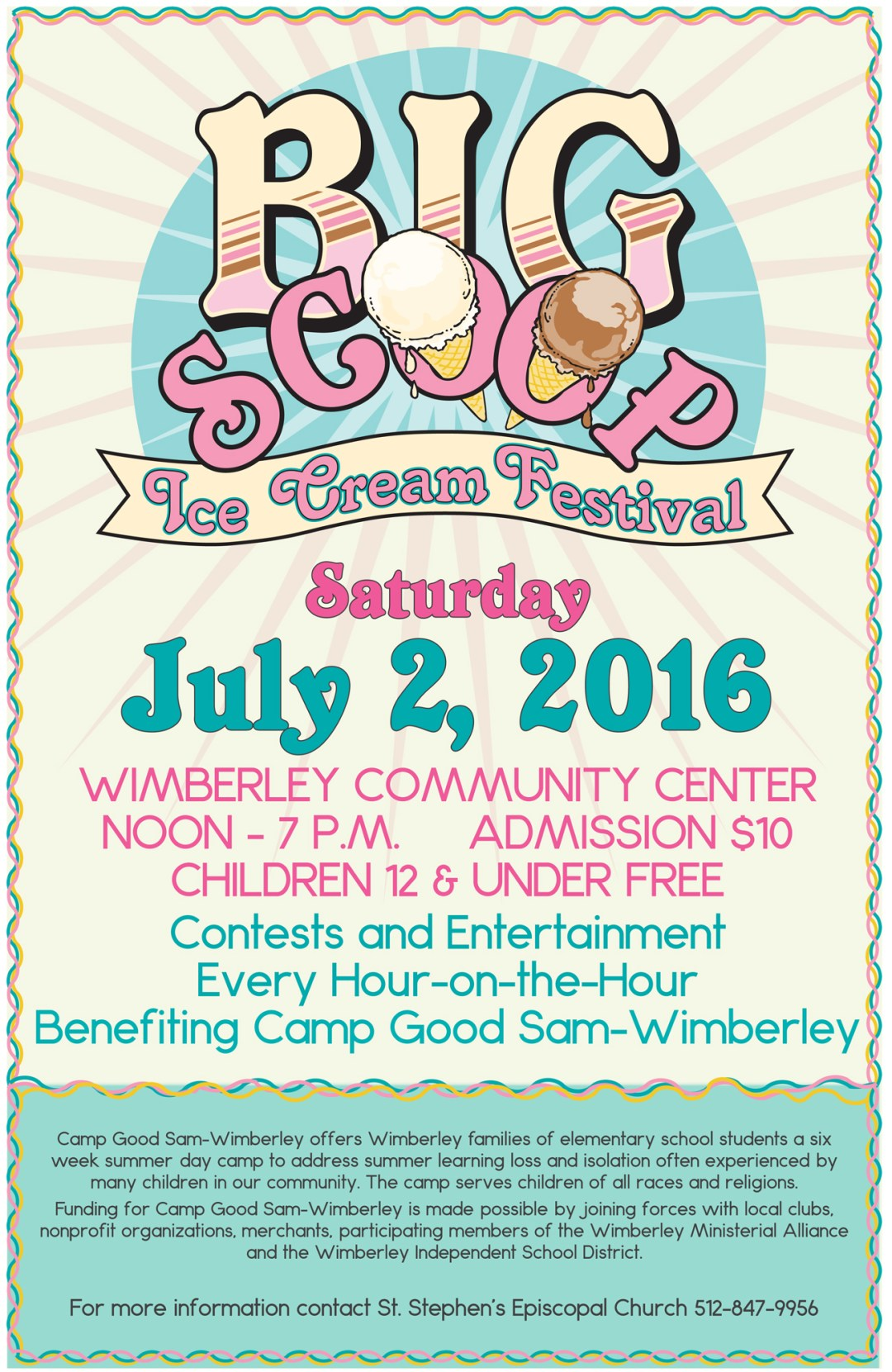 things to do in wimberley tx big scoop ice cream festival