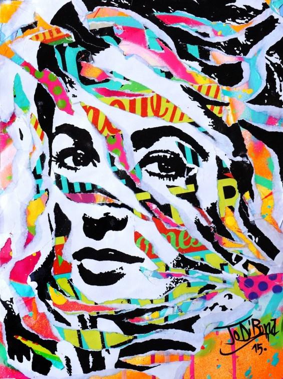 AWFUL by Jo Di Bona 2015 30x40 technique mixte sur carton