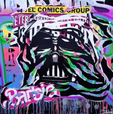 BARBIE VADER by Jo Di Bona 2014 100x100 technique mixte sur toile