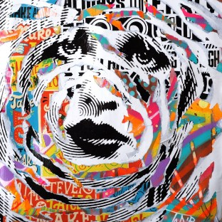CELEBRITY SKIN by Jo Di Bona 2015 40x50 technique mixte sur carton