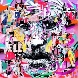 CHIENNE DE VIE 4 by Jo Di Bona 2015 120x120 technique mixte sur toile