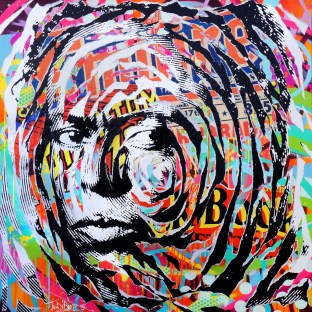 MILES IS SO POP! by Jo Di Bona 2015 100x100 technique mixte sur toile