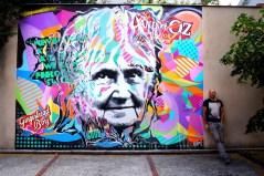 Mur réalisé à l'école Montessori, Rueil Malmaison