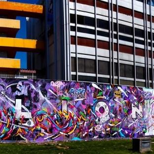 Mur réalisé avec Kanos pour le Festival Rue des Arts 3, Aulnay-sous-Bois 2