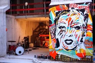 Mur réalisé pour le film de Daniel Deleforges au Bal Nègre, Paris