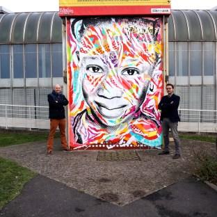 Mur réalisé pour les 10 ans d'ACLEFEU, Clichy-sous-Bois