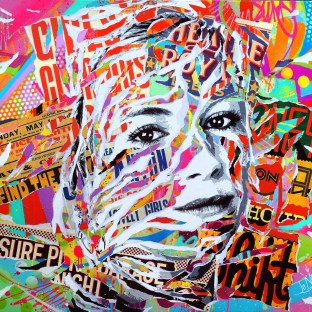 SIENNA IS SO POP! by Jo Di Bona 2015 120x100 technique mixte sur toile