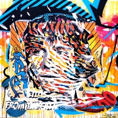 SKYWALKER by Jo Di Bona 2014 100x100 technique mixte sur toile