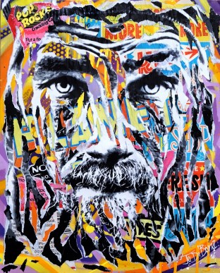 ESCAPE by Jo Di Bona 2016 40x50 technique mixte sur papier