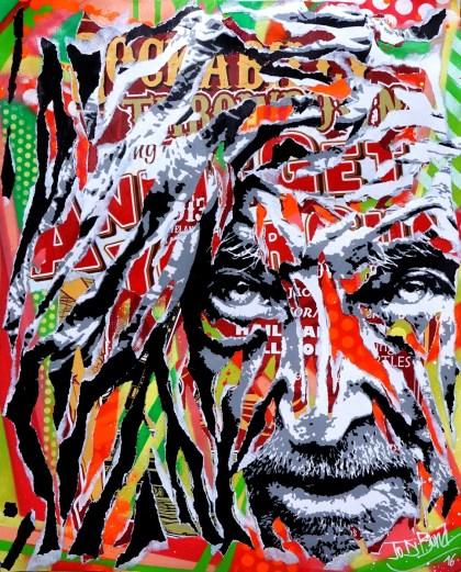 FREE SPIRIT by Jo Di Bona 2016 40x50 technique mixte sur papier