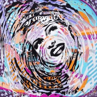 HEART SHAPED BOX by Jo Di Bona 2016 150x150 technique mixte sur toile