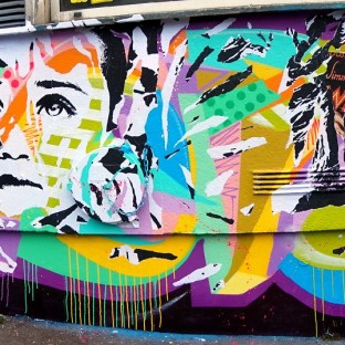 Mur rue Alibert Paris by Jo Di Bona