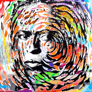 PEACEFUL by Jo Di Bona 2016 100x100 technique mixte sur toile