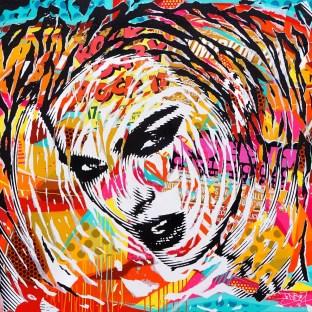 ROCK IT! by Jo Di Bona 2016 150x150 technique mixte sur toile