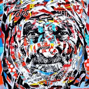 SYNCHRONICITY by Jo Di Bona 2016 40x50 technique mixte sur papier