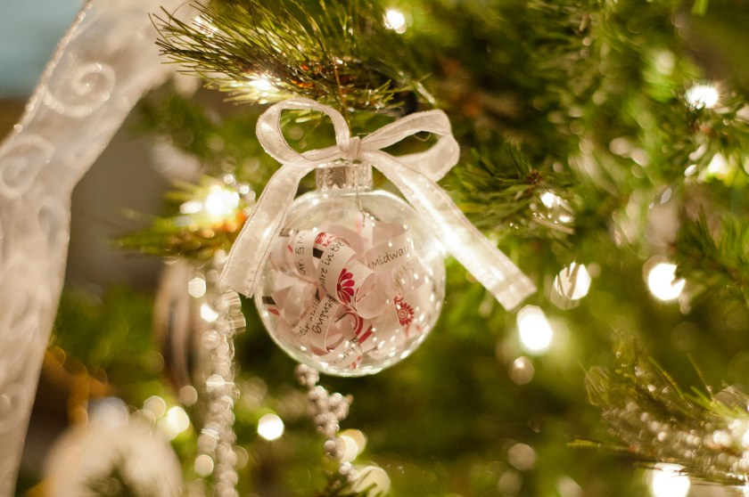 Jodi Catherine Photography Makes A Diy Christmas Ornament With Wedding Invitation