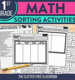Math Sorting Activity Ideas for 1st [ 1080 x 1080 Pixel ]