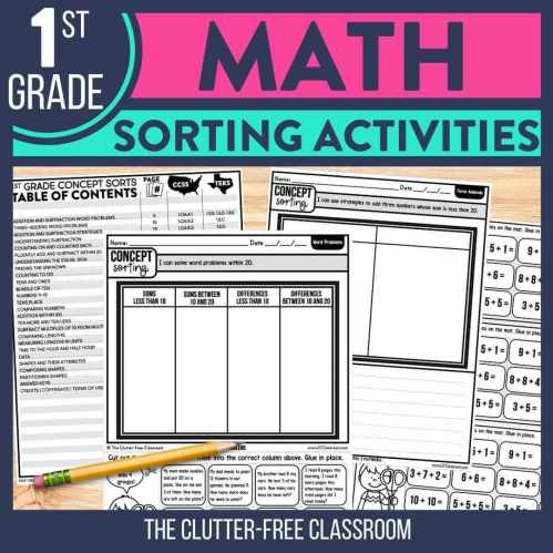 small resolution of Math Sorting Activity Ideas for 1st