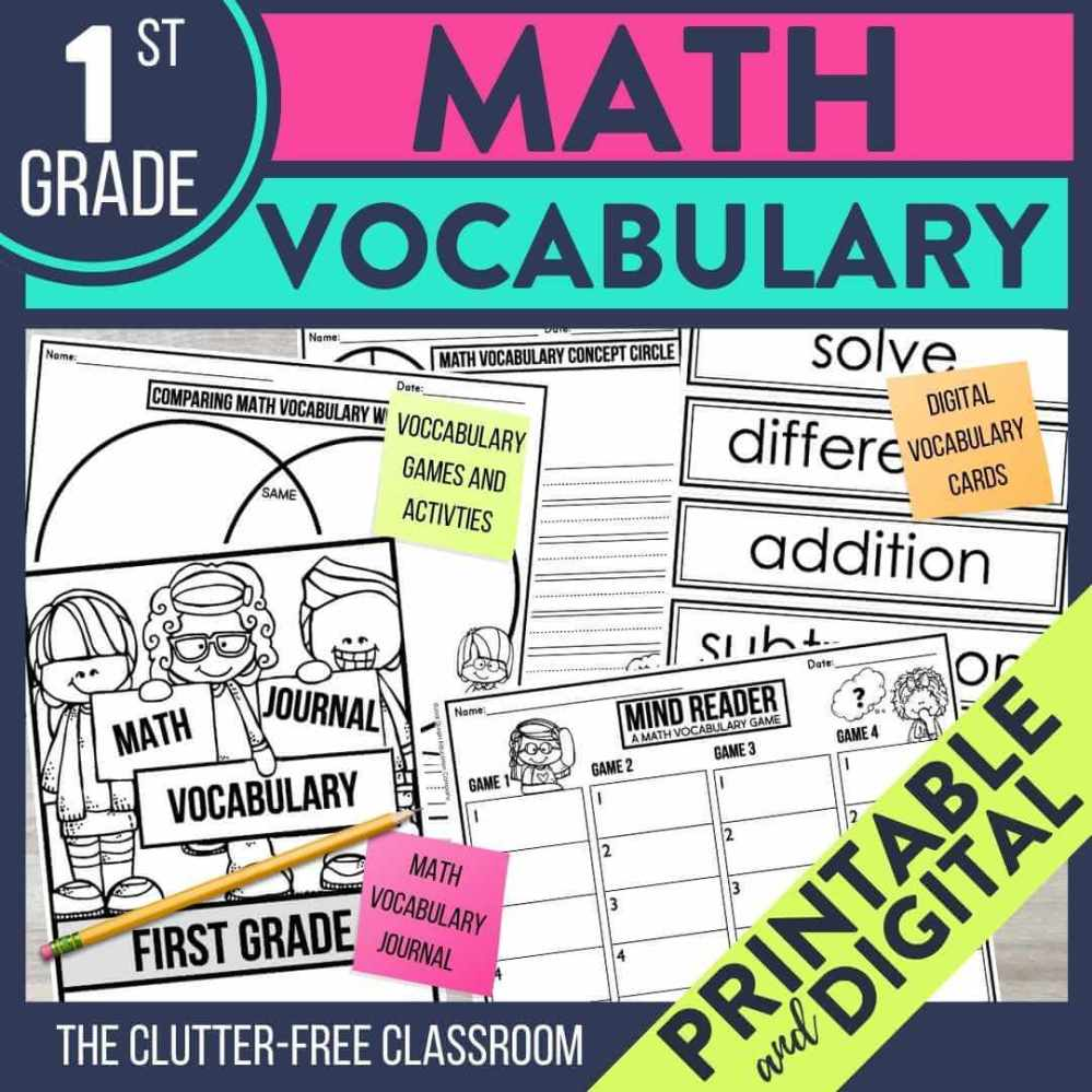 medium resolution of Using Math Walls and Other Tools to Teach Elementary Vocabulary   Jodi  Durgin Education Co.