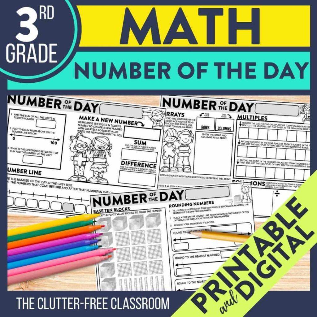 hight resolution of Third Grade Math Activities   Clutter-Free Classroom   by Jodi Durgin