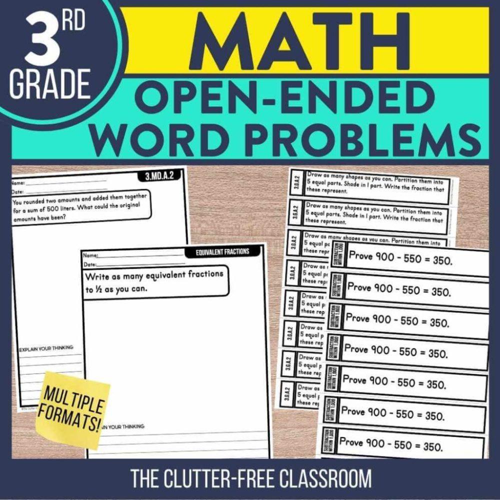 medium resolution of Third Grade Math Activities   Clutter-Free Classroom   by Jodi Durgin