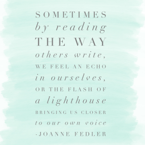 on voice - Joanne Fedler
