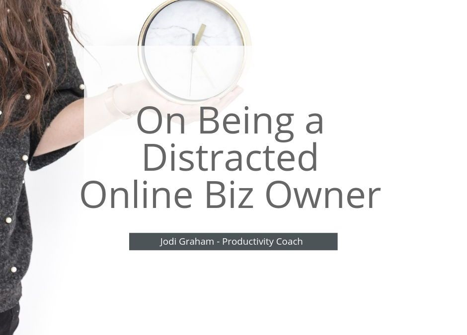 On Being a Distracted Online Biz Owner