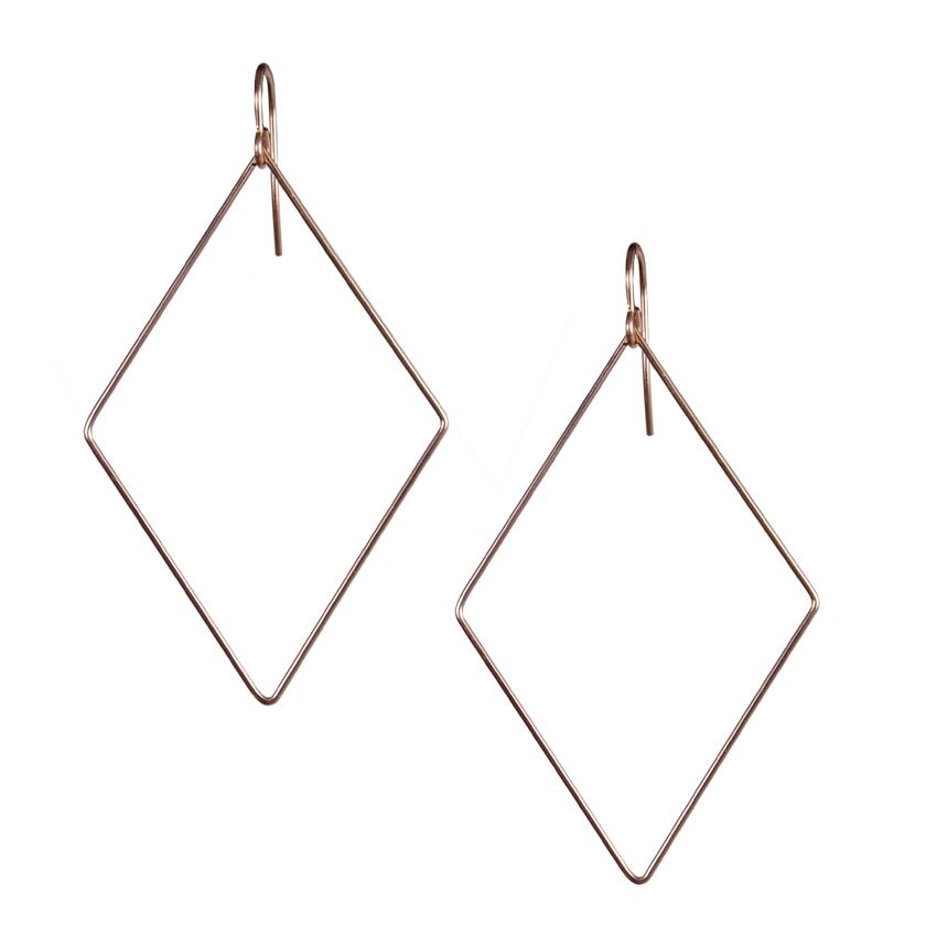 Diamond Shaped Earrings Diamond Shape Rhinestone Silver