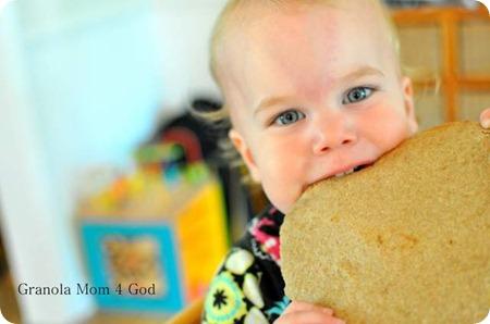Baby eating Tortilla