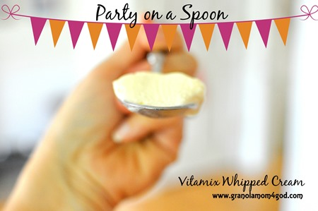 delicious Vitamix heavy whipping cream