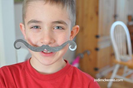 fourth grade mustache