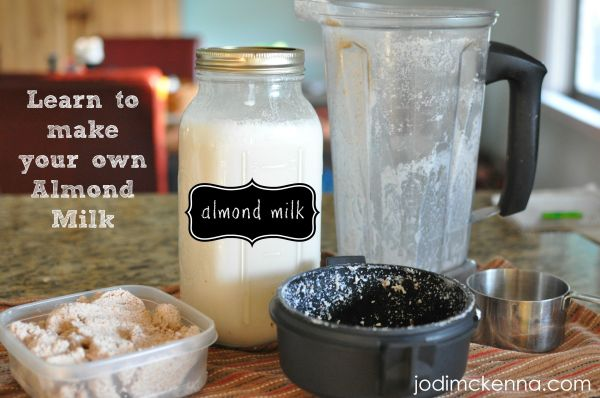 learn to make your own almond milk