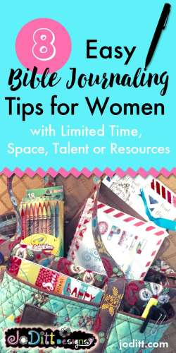 Monday Mish Mash Link Party #33 Feature:  8 Easy Bible Journaling Tips for Women @ Jo Ditt Designs