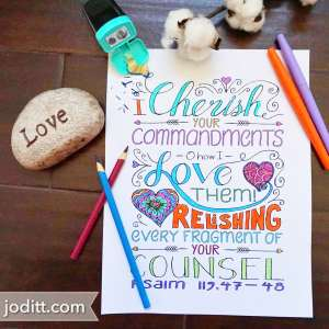 Bible Coloring Book for Adults by JoDitt