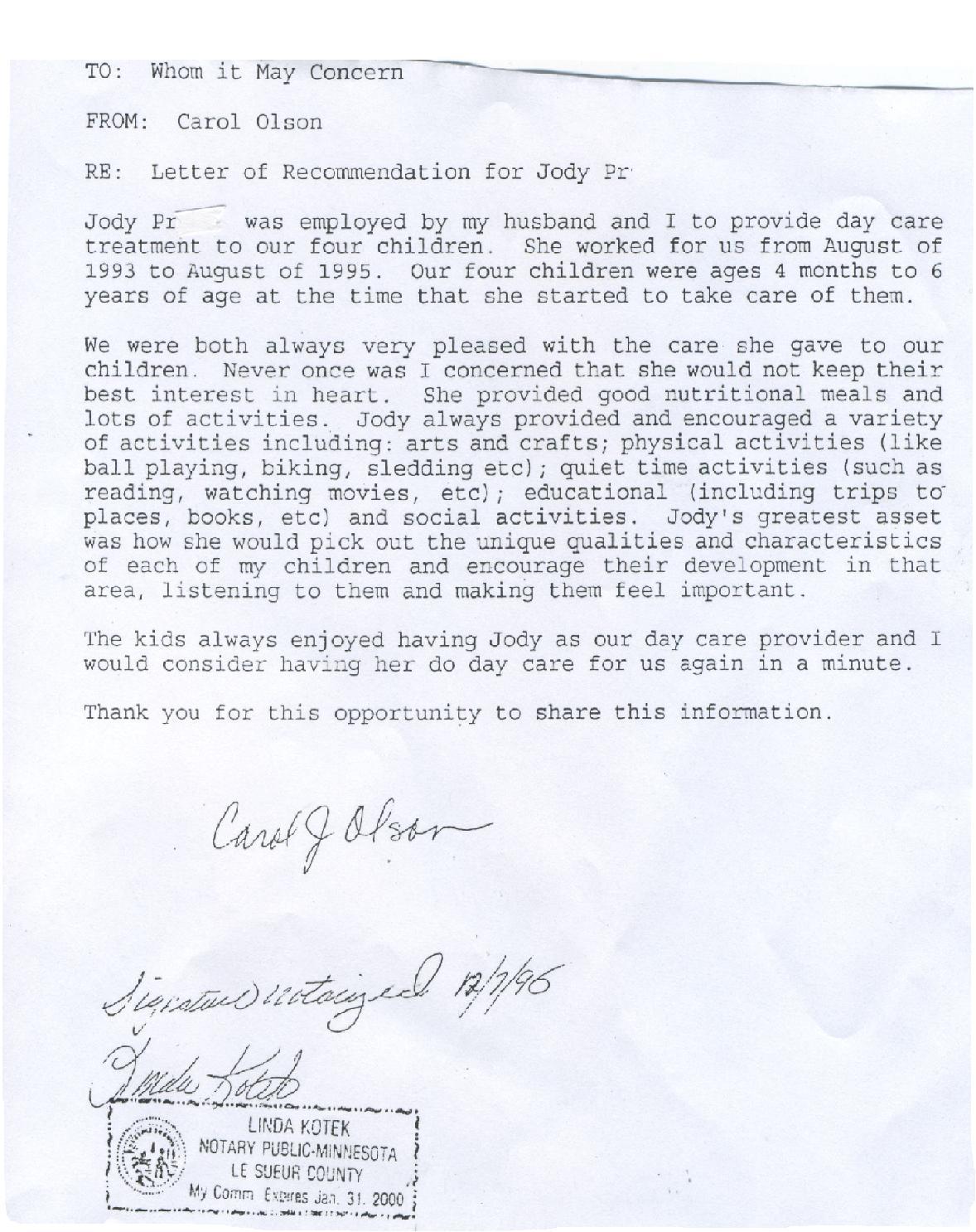 Sample School Recommendation Letter Sample School Recommendation
