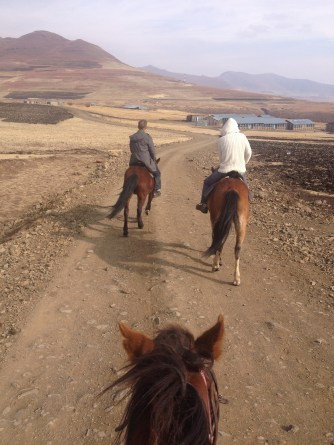 Horseback riding with my good PCV buddy, Eric in the Mokhotlong mountains.