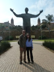 We hung out with Mandela in several different places (I think this is actually in Pretoria).