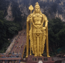 Murugan statue at the Batu Caves