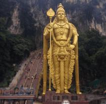 Murugan statue at the Batu Caves